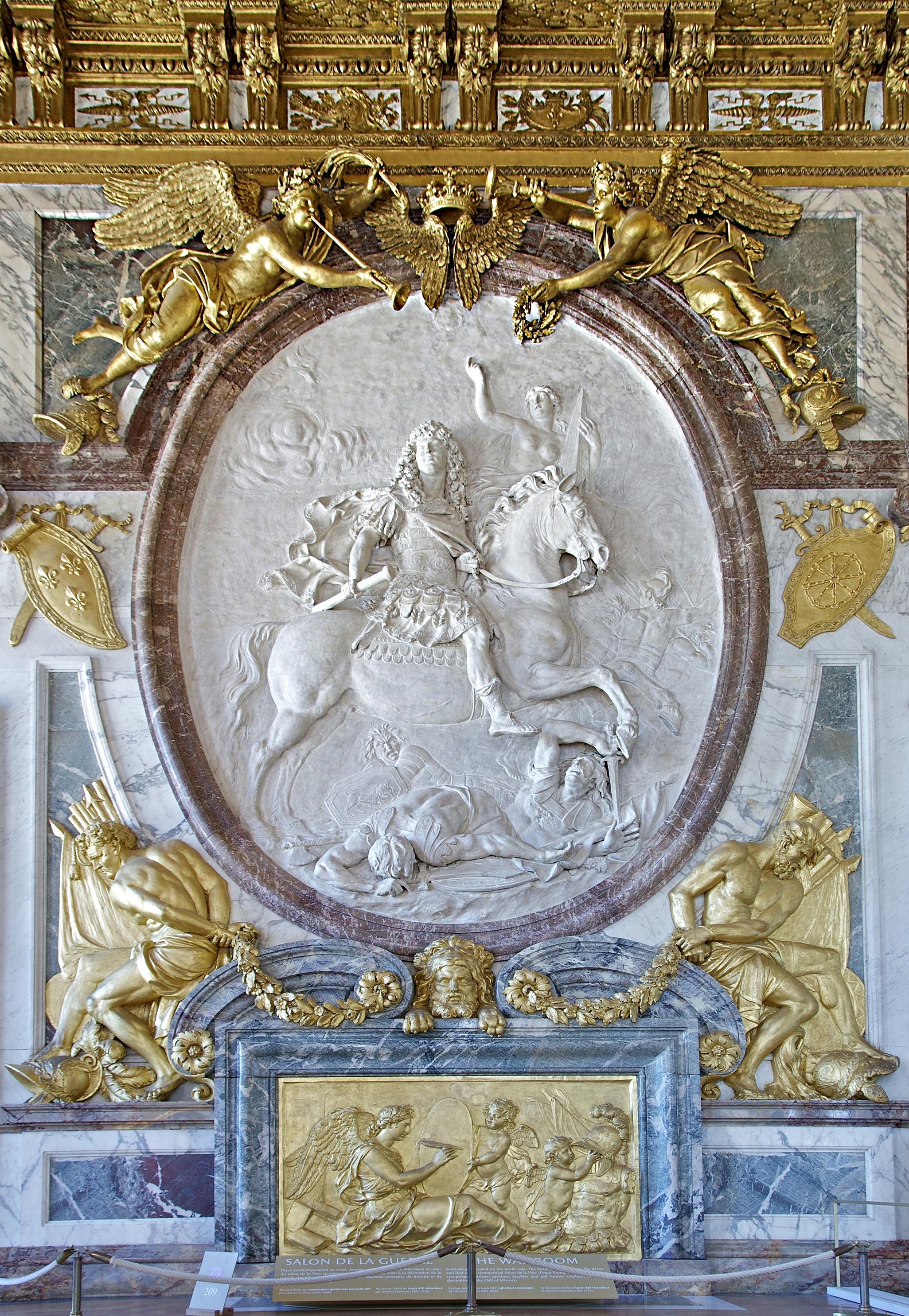 File salon de la guerre war room versailles relief louis - Salon du vin versailles ...