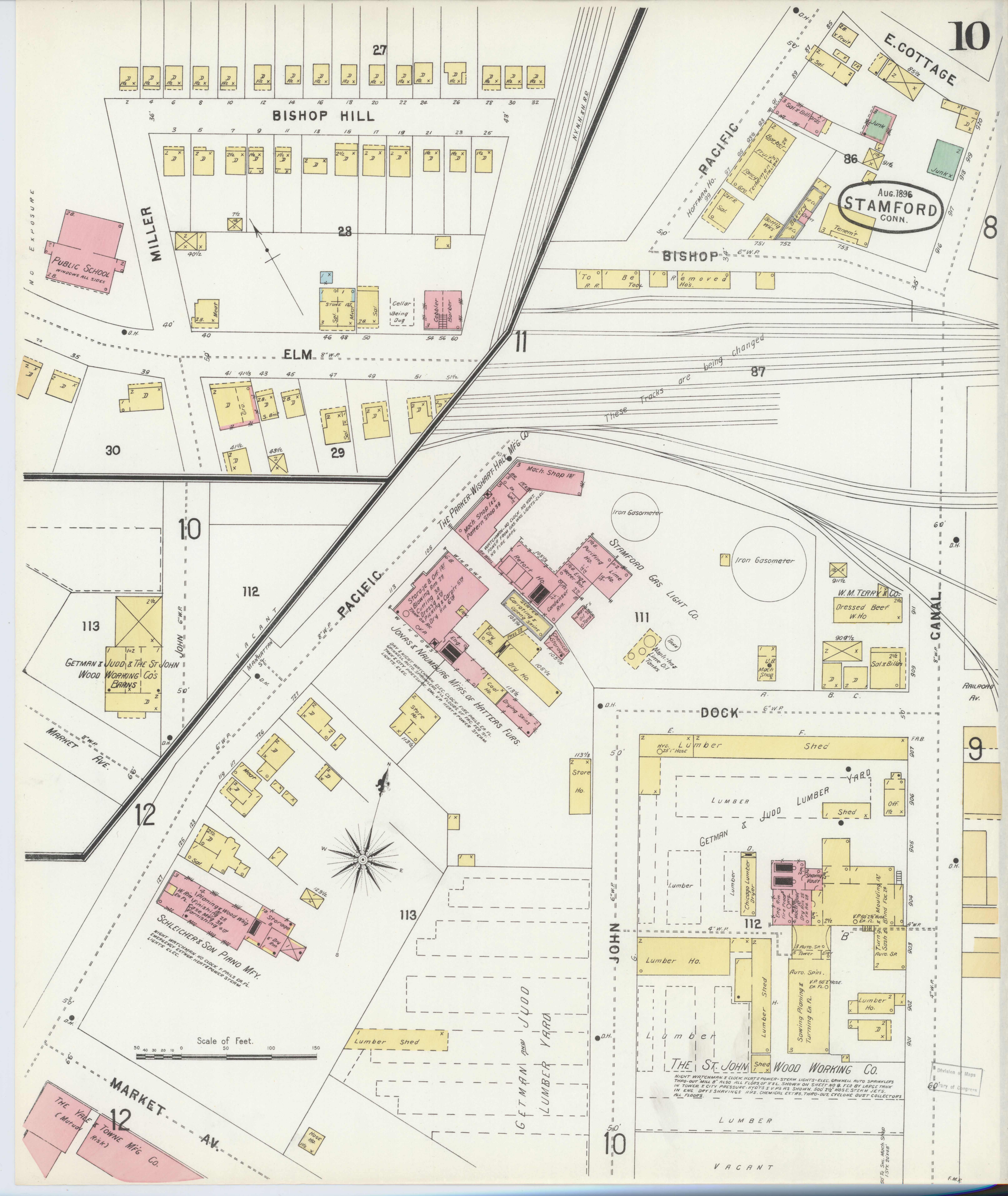 File:Sanborn Fire Insurance Map from Stamford, Fairfield County ...