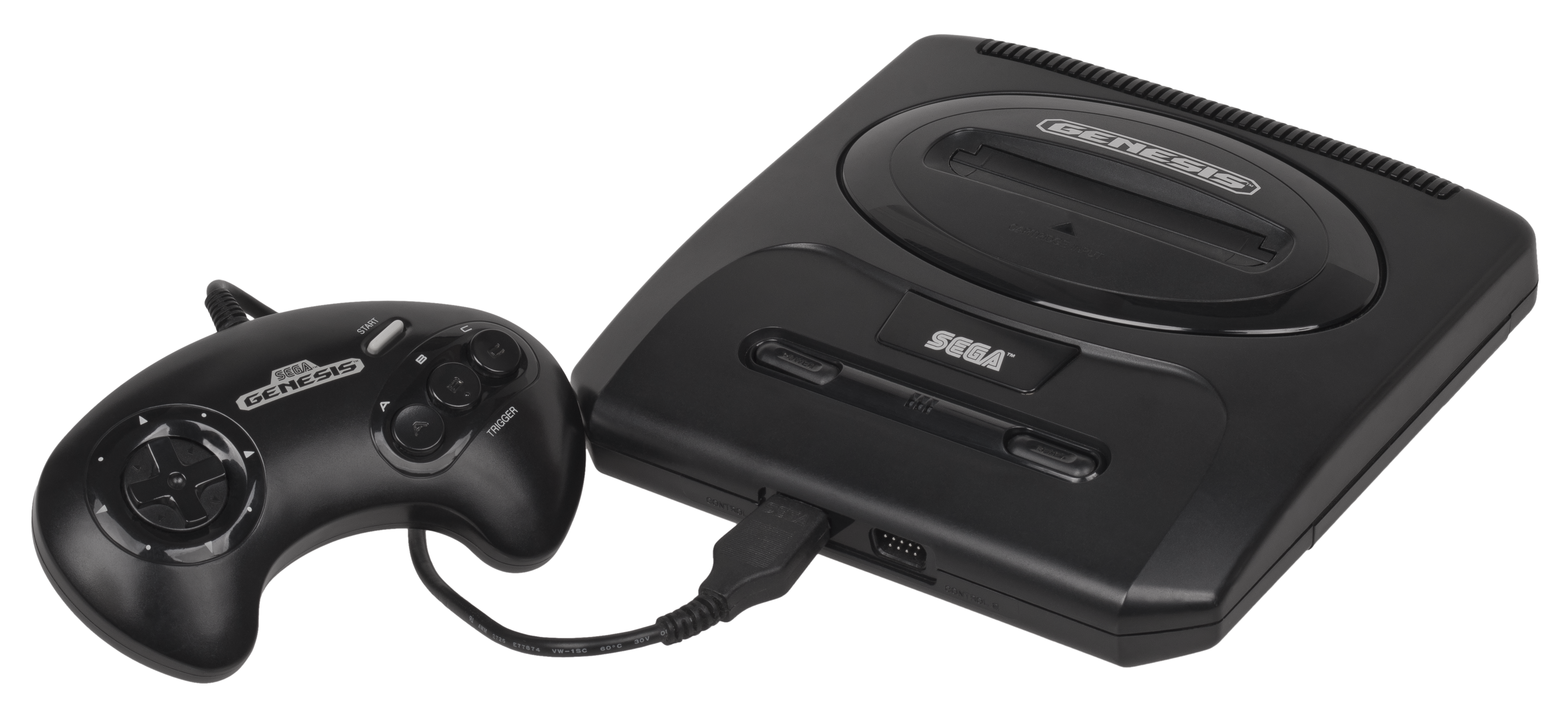 File Sega Genesis Na Mk2 Console Set Png Wikimedia Commons