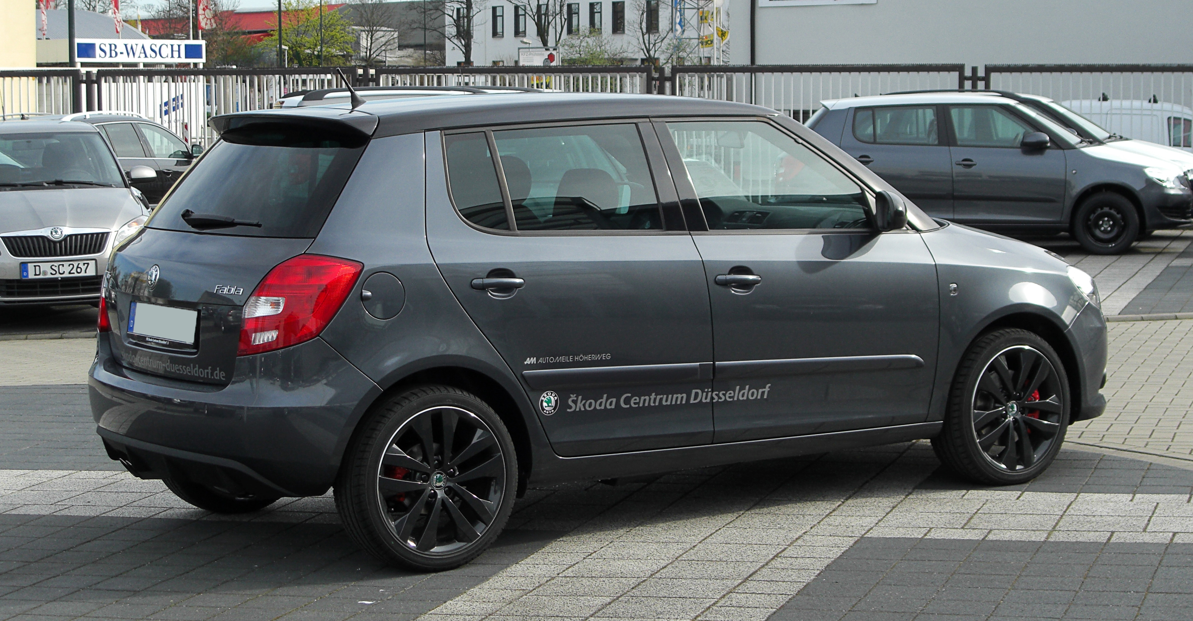skoda fabia 1 4 tsi dsg rs ii facelift heckansicht 2 2 april 2011 d sseldorf. Black Bedroom Furniture Sets. Home Design Ideas