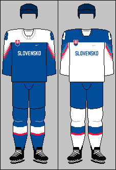 Slovakia national ice hockey team jerseys 2018 (WOG)