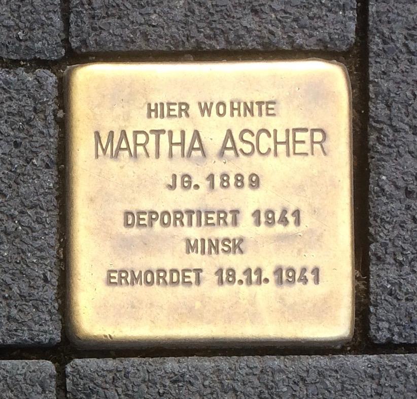 Stolpersteine Neuwied Langendorfer Straße 133 Martha Ascher.jpg
