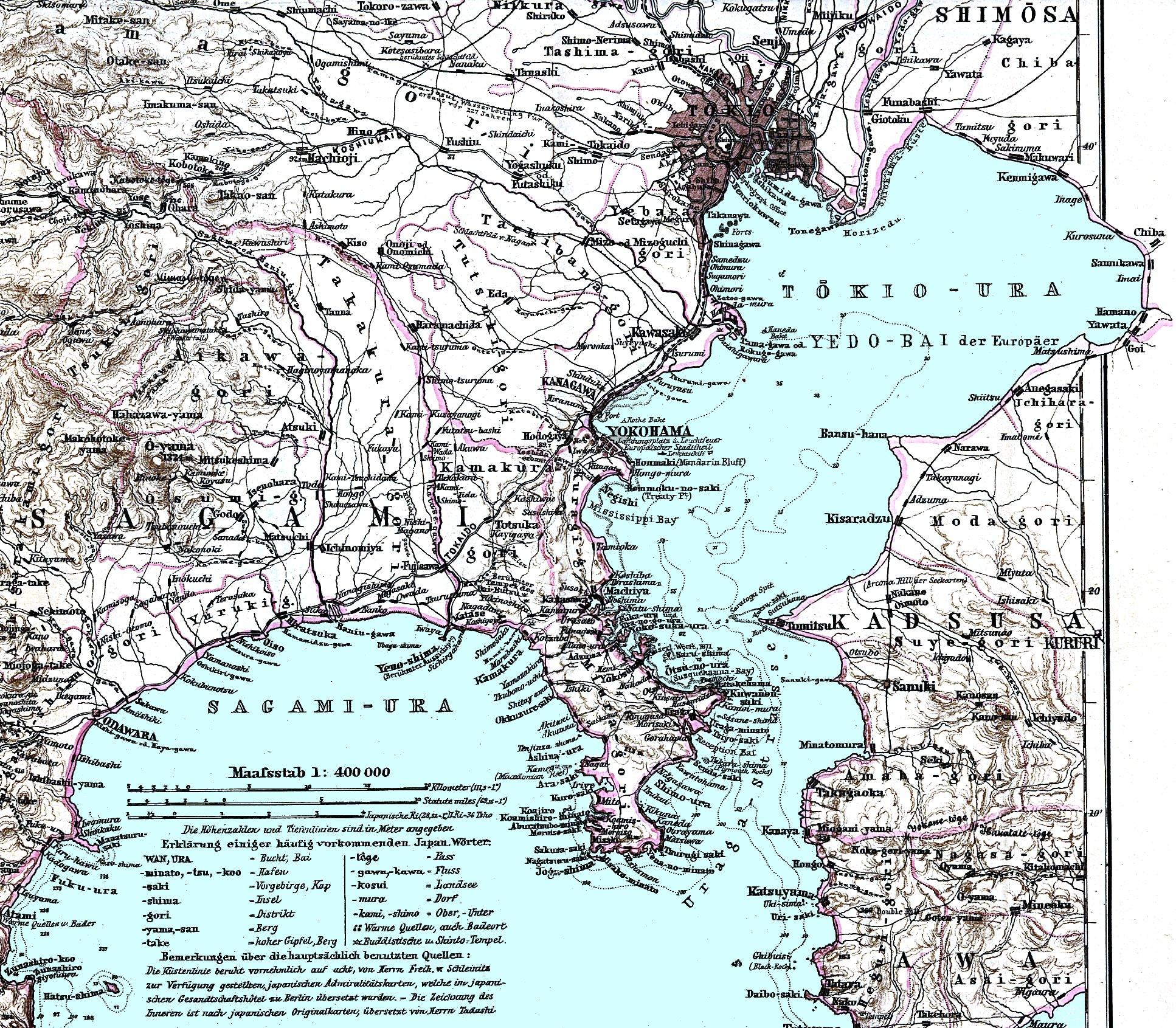 古地図集め: 東京湾(1879年)