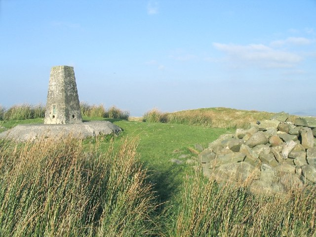 Trig point and cairn on Foel Cwmcerwyn - geograph.org.uk - 61742