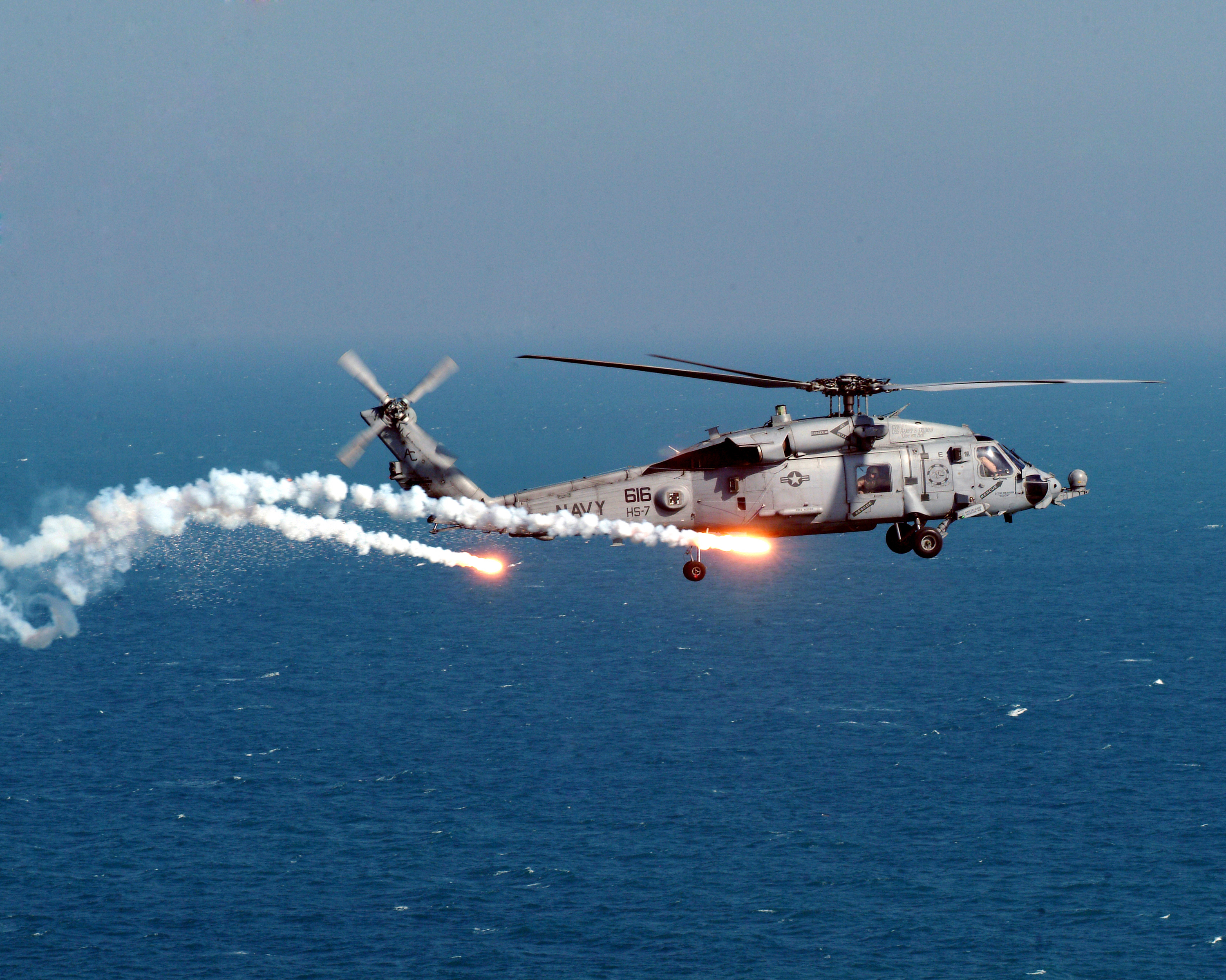 us navy seahawk helicopter with File Us Navy 041221 N 5067k 056 An Hh 60h Seahawk Assigned To The The Dusty Dogs Of Helicopter Anti Submarine Squadron Seven  Hs 7   Test Dispense Flares And Chaff From The On Board An Aar 47 System on Mq 8 Fire Scout Vtuav Program By Land Or By Sea additionally Sikorsky Sh 60 Seahawk additionally File US Navy 050101 N 6817C 028 Helicopters depart USS Abraham Lincoln  CVN 72  en route to Aceh  Sumatra  Indonesia in addition Sikorsky Sh 60 Sea Hawk 168573 usa Us Navy 270212 large in addition Iranian Navy Boat Threatens U S Helicopter N689286.