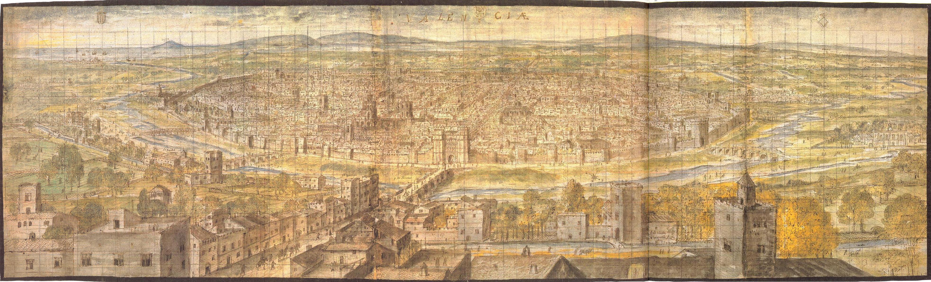 Resultado de imagen de Vista de la ciudad en 1562 (por Anton van den Wyngaerde)