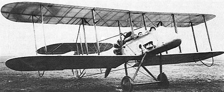 Vickers F.B.9 front quarter view
