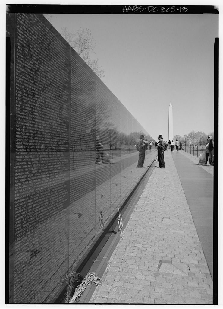 Image result for Vietnam Veterans Memorial (1982), by Maya Lin