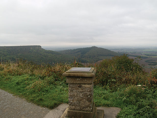 View indicator at Sutton Bank - geograph.org.uk - 582941