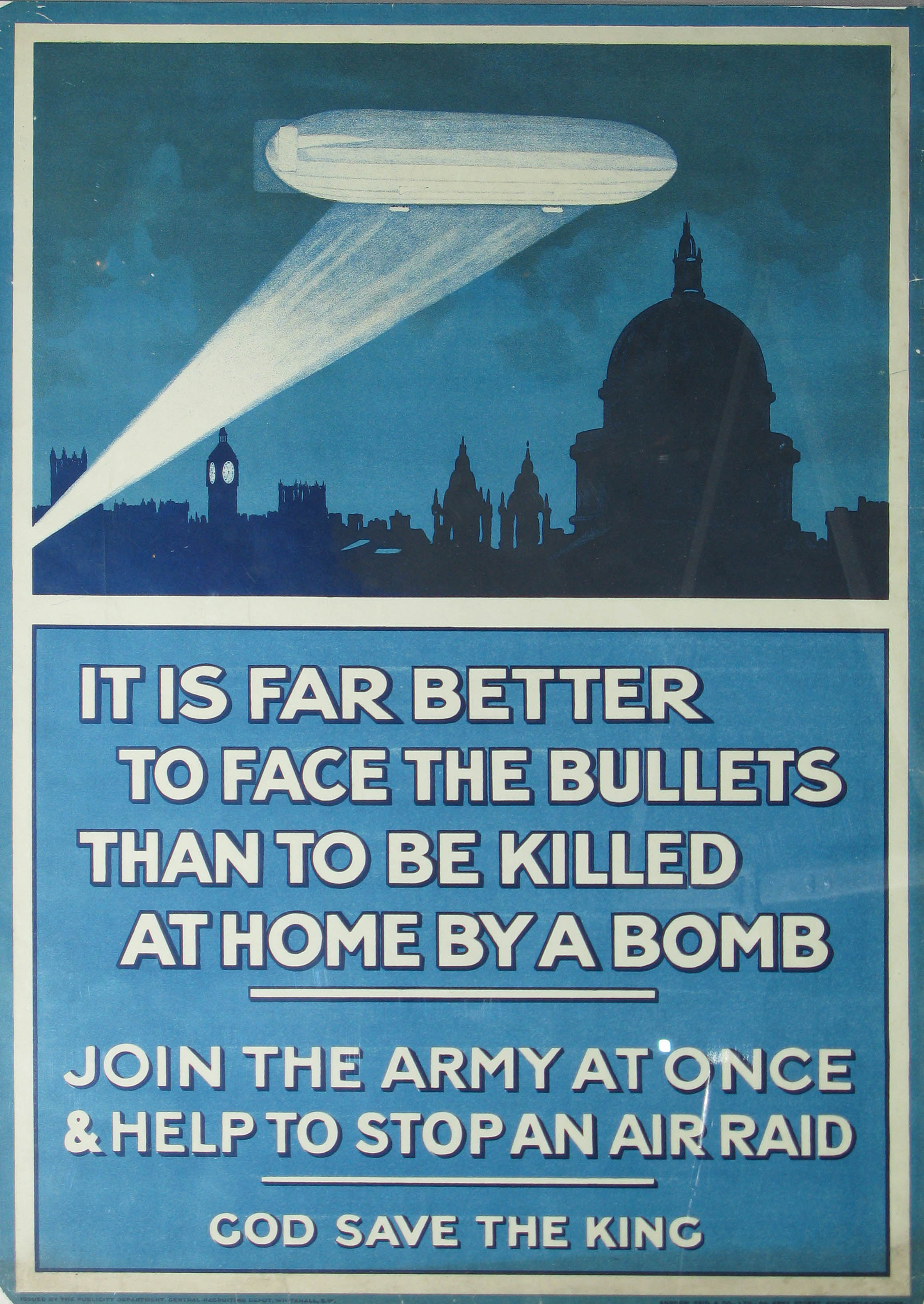 Wwi zeppelin poster - Join the Army. Avoid getting killed by a bomb. Brilliant!