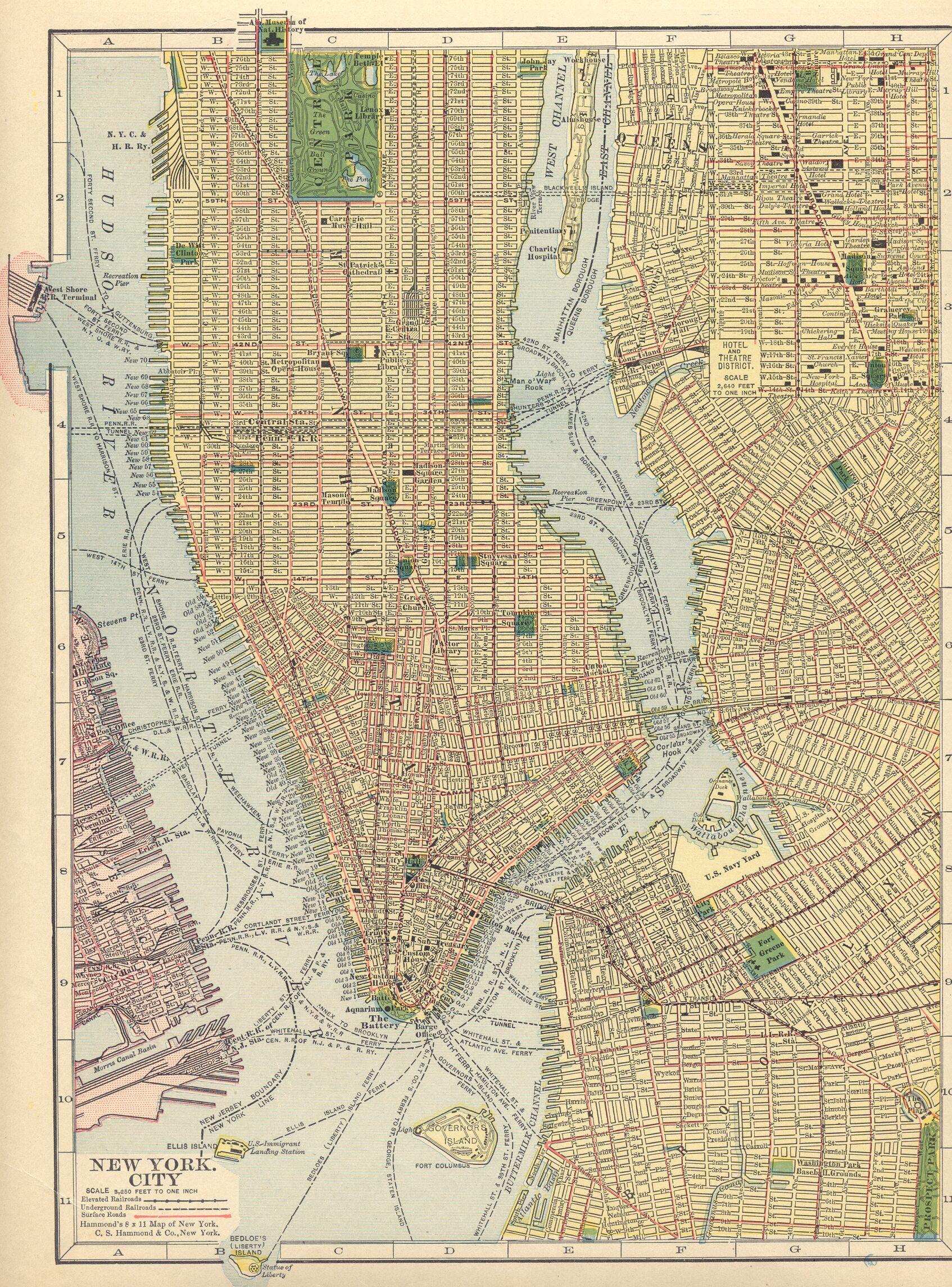 maps nyc – Street Map New York City