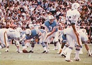 Oilers quarterback Dan Pastorini playing in the 1978 AFC Wild Card game