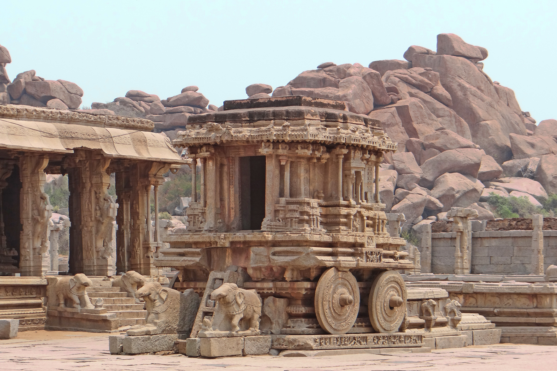 File 2 stone chariot lord vishnu hindu temple vitthala for Architecture inde