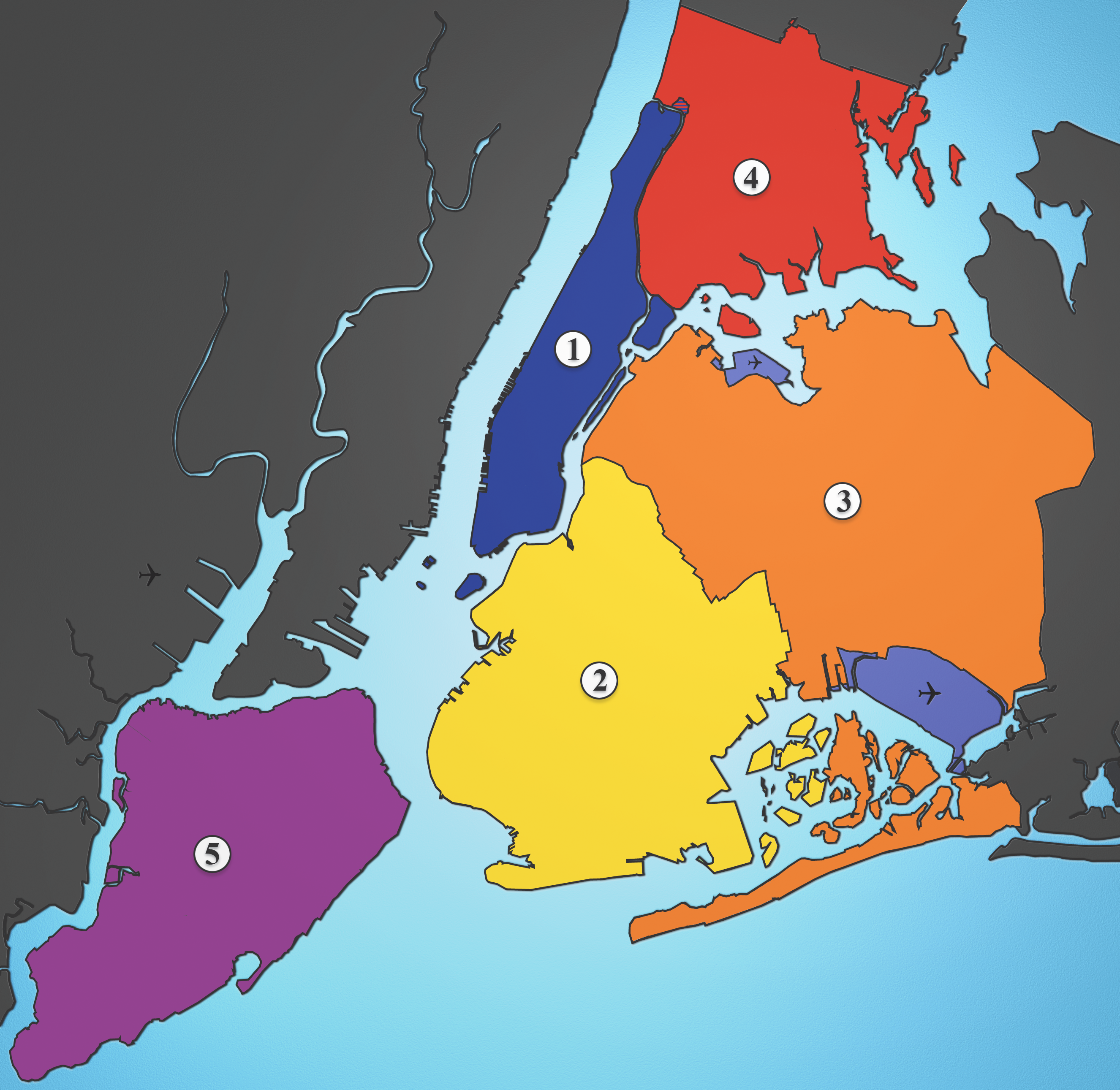 File Boroughs Labels New York City Map Julius Schorzmanpng - Nyc city map portal