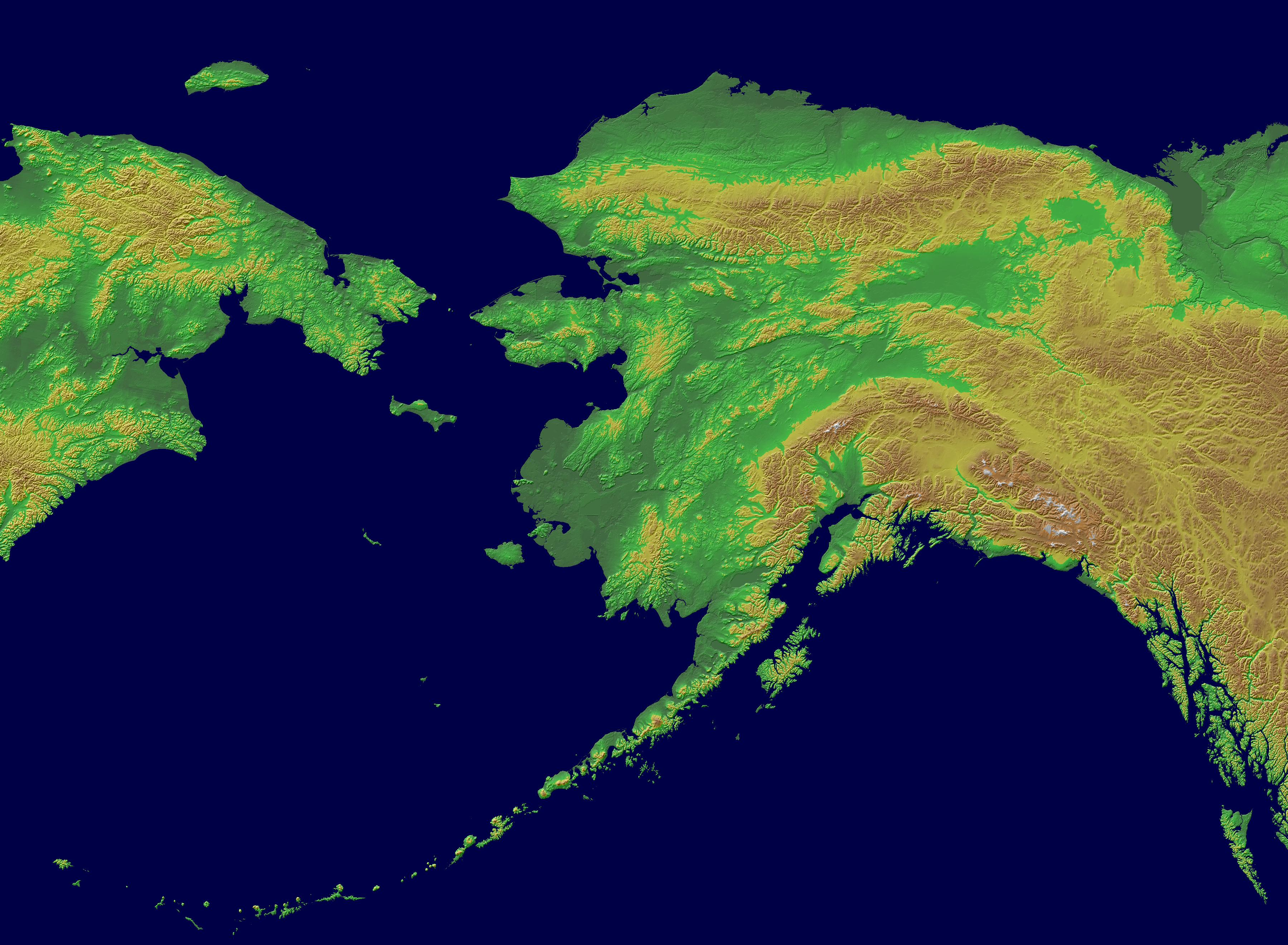 Topographical Map Of Alaska Cinemergente