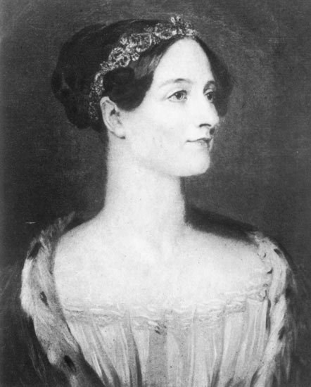 Ada Lovelace portrait circa 1840