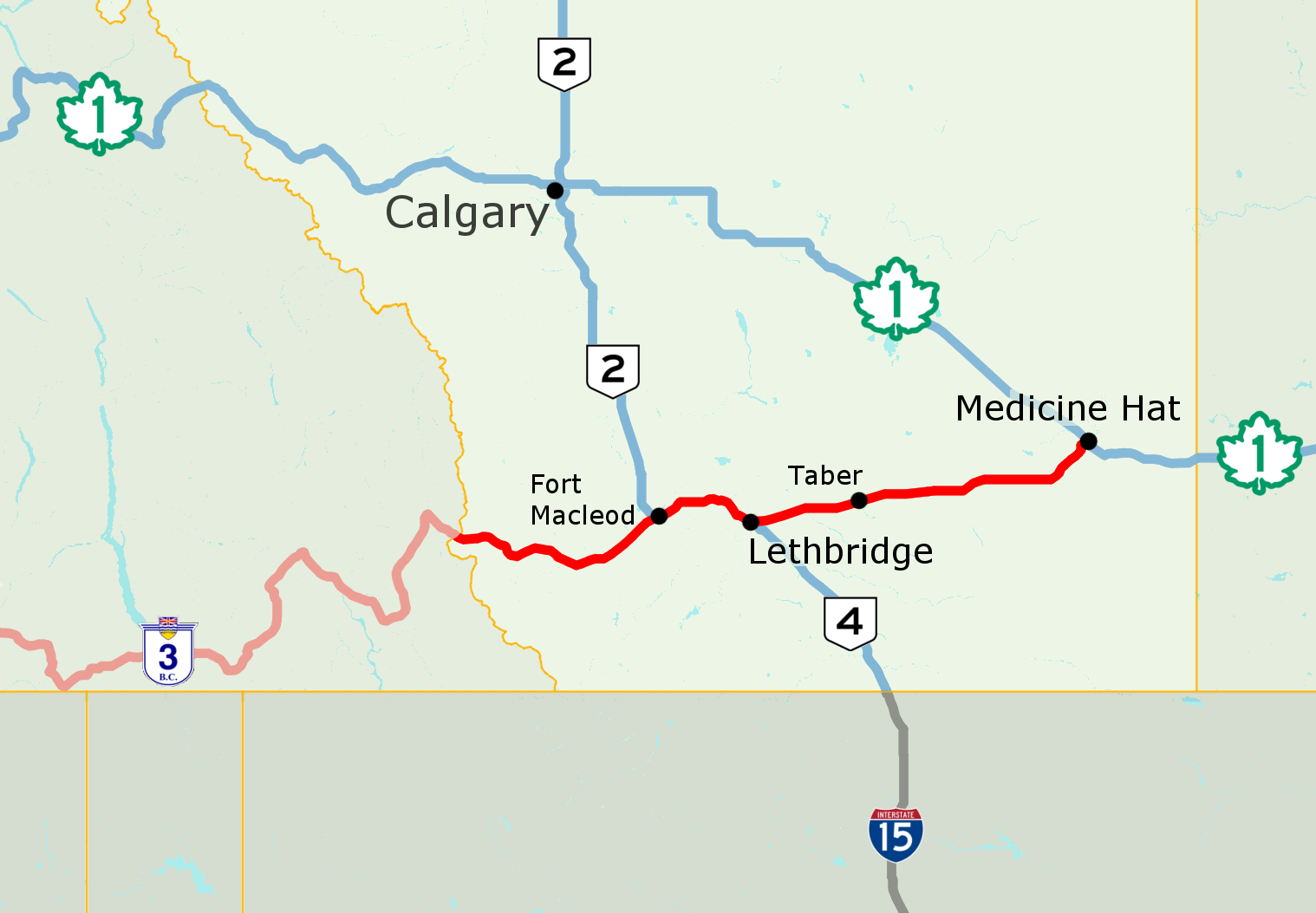 Alberta Highway 3 - Wikipedia