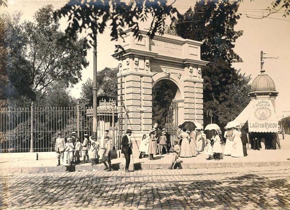 Zoológico de Buenos Aires em foto de 1890, aproximadamente