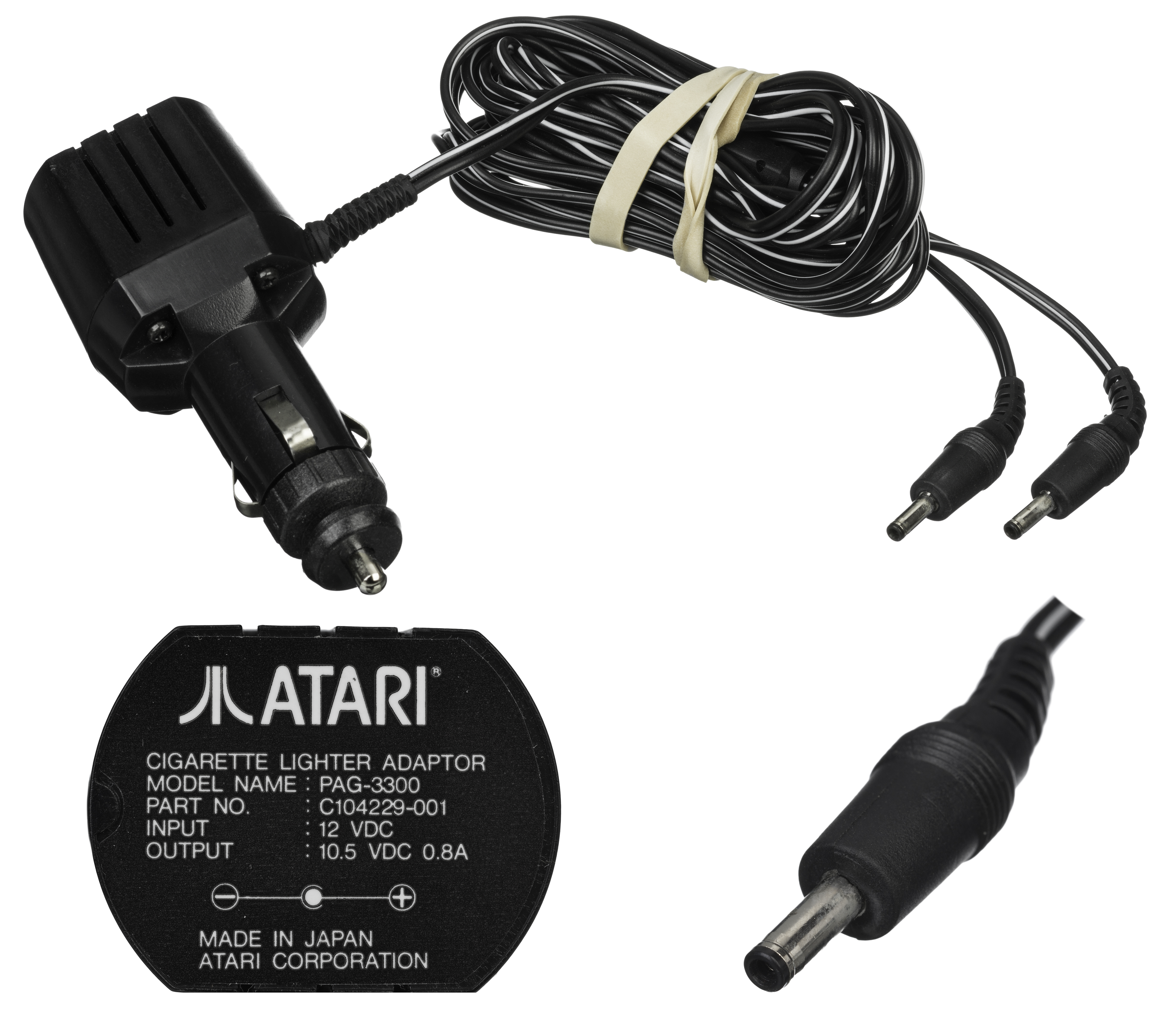 Information -=The official cigarette lighter power adapter for the Atari Lynx game console. -Source=Own work