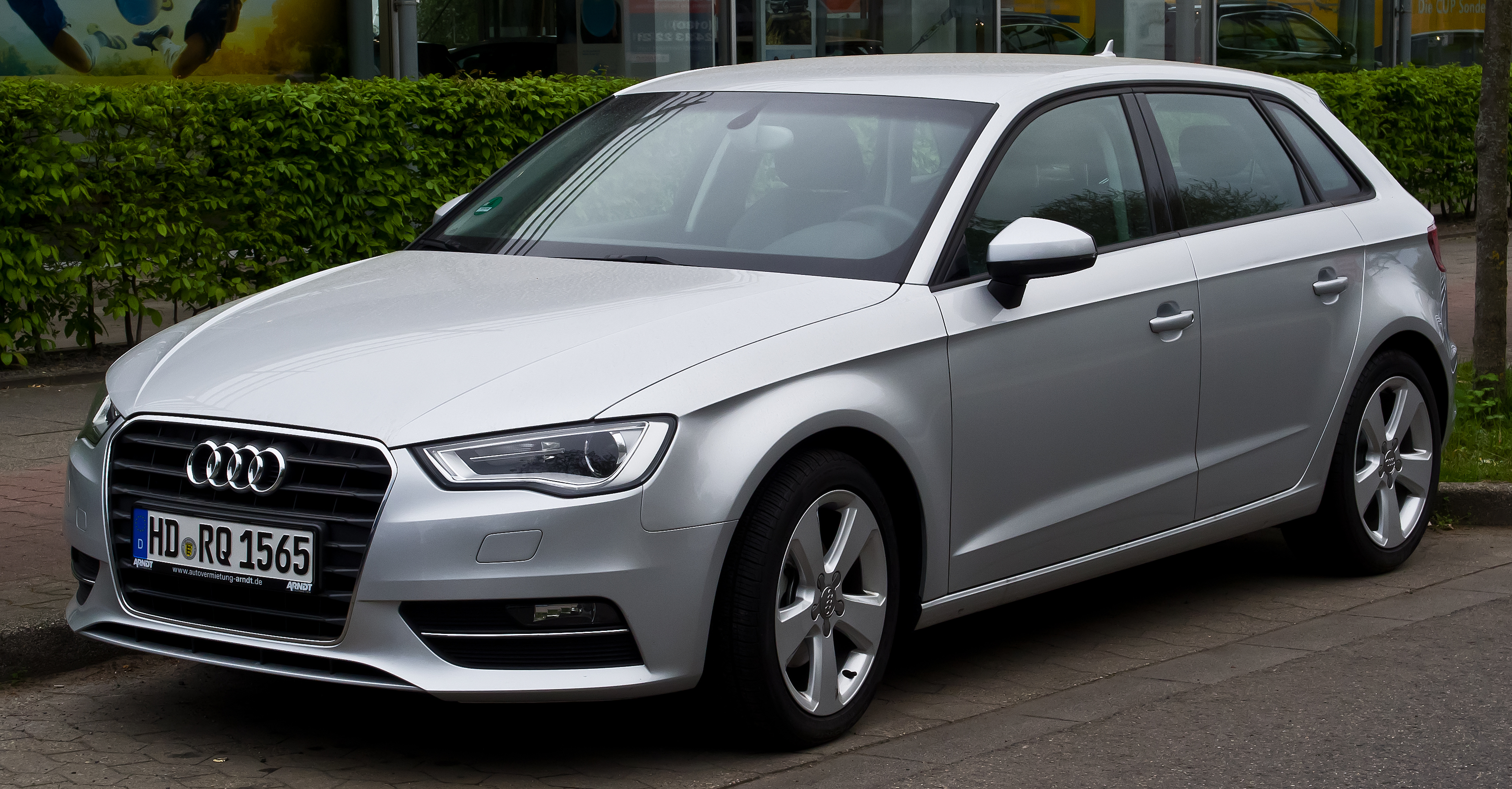 file audi a3 sportback 1 6 tdi ambition 8v frontansicht 6 april 2014 d. Black Bedroom Furniture Sets. Home Design Ideas