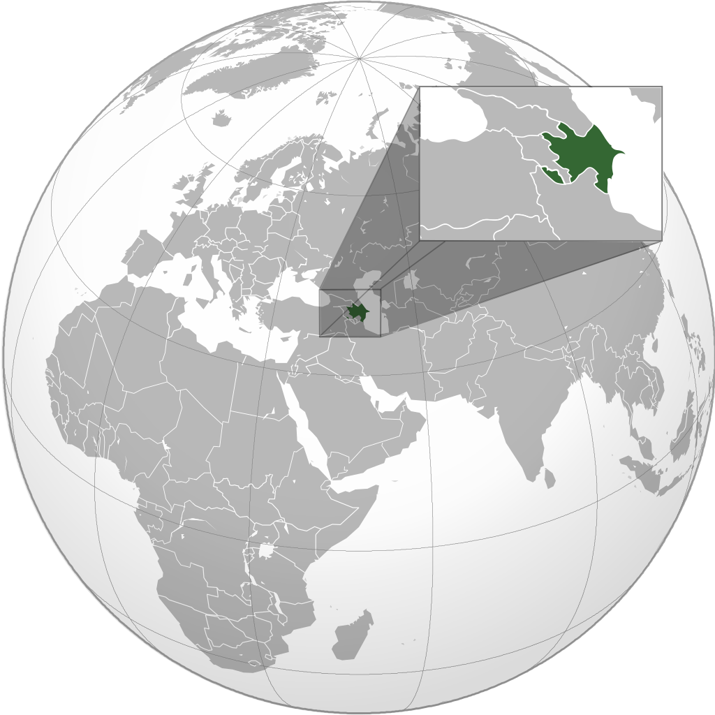 Mynd:Azerbaijan (orthographic projection).png