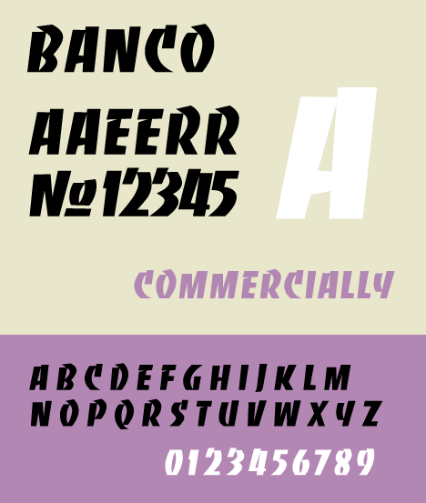 Banco, a graphic typeface