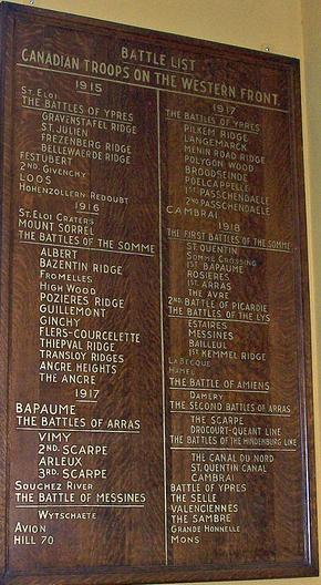 lowest price 54ee6 d8138 File:Battle list Canadian Troops on the Western Front plaque ...