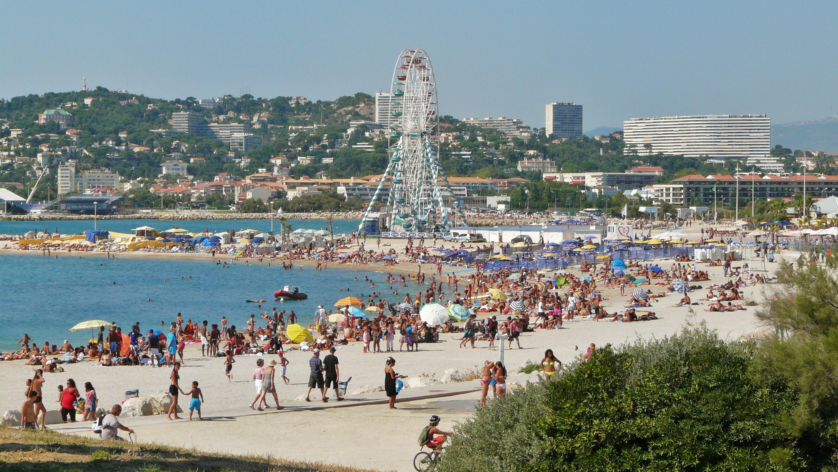 File Beach In Marseille Jpg Wikimedia Commons