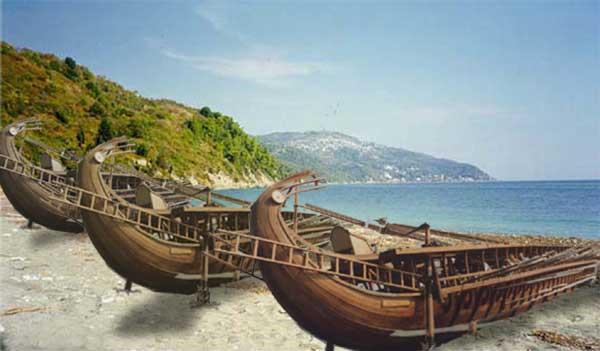 Persische Schiffe - Rekonstruktion