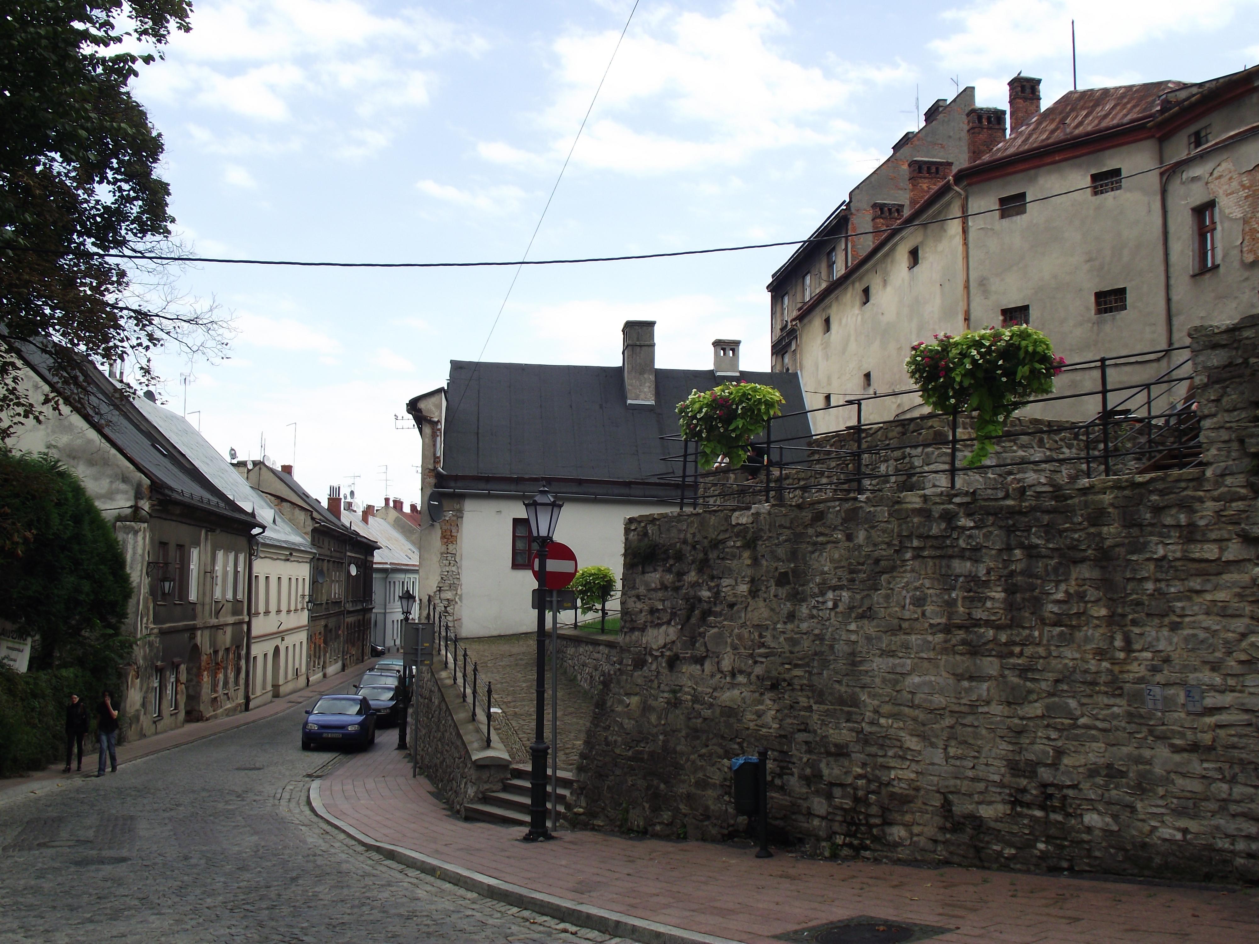 Bielsko-Biała, Stare Miasto, mury, Orkana.JPG