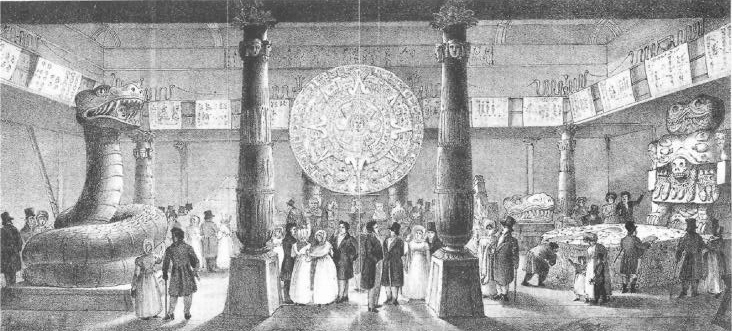 Engraving by Aglio, of the 1824 ''[[Ancient Mexico