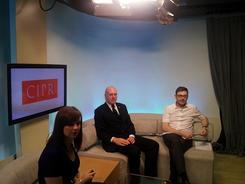 Gemma Griffiths, David Gerard and Philip Sheldrake ahead of the webcast