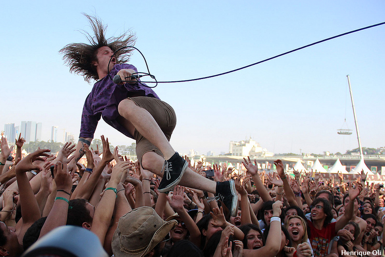 Cage The Elephant at Lollapalooza BR 2012
