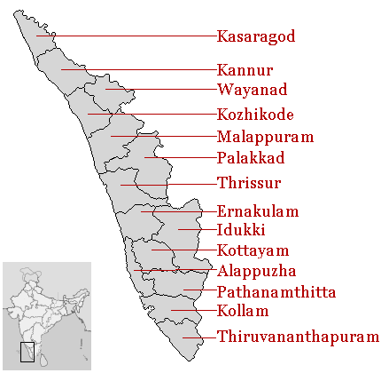 List of districts in Kerala - Wikipedia