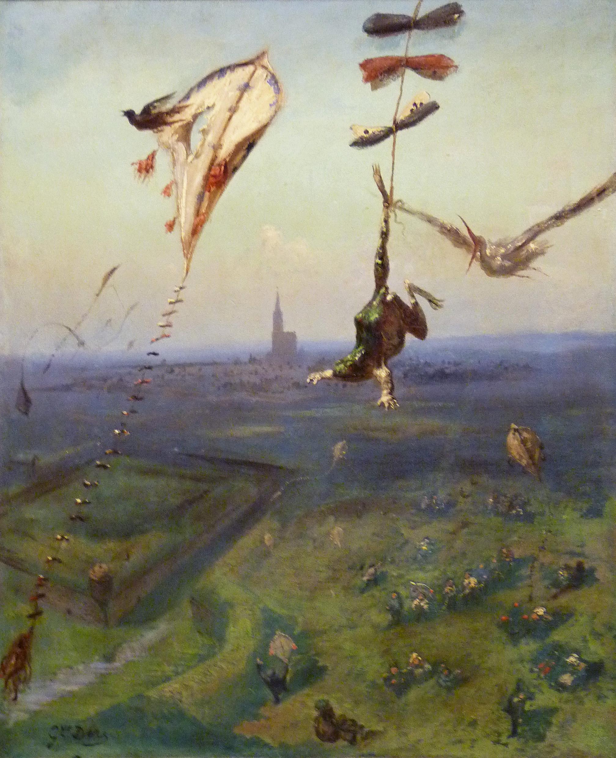 Gustave Doré, Entre ciel et terre, 1862, huile sur toile, B-A de Belfort
