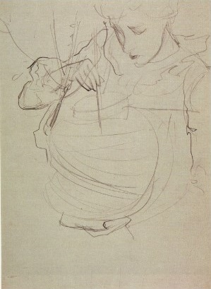 Carnation, Lily, Lily, Rose Sargent Sketch