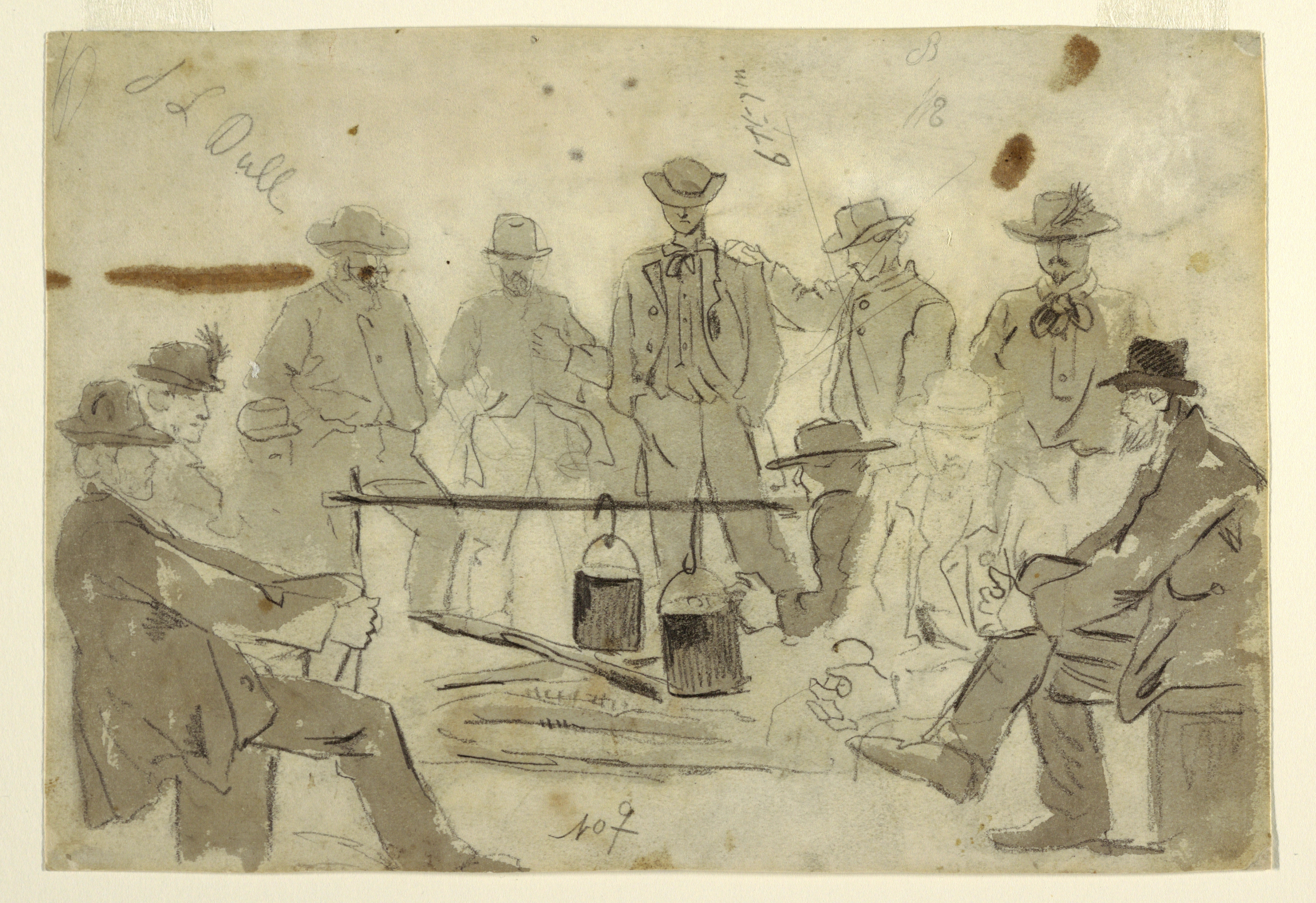 FileDrawing Campfire With Soldiers Grouped About 1862 CH 18173827