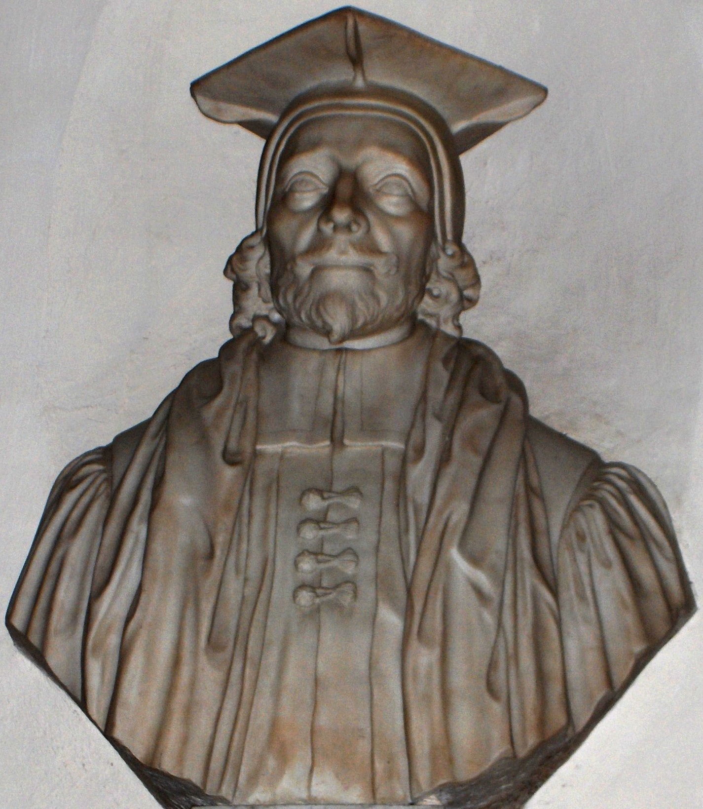 Bust of Edward Pococke in [[Christ Church Cathedral, Oxford
