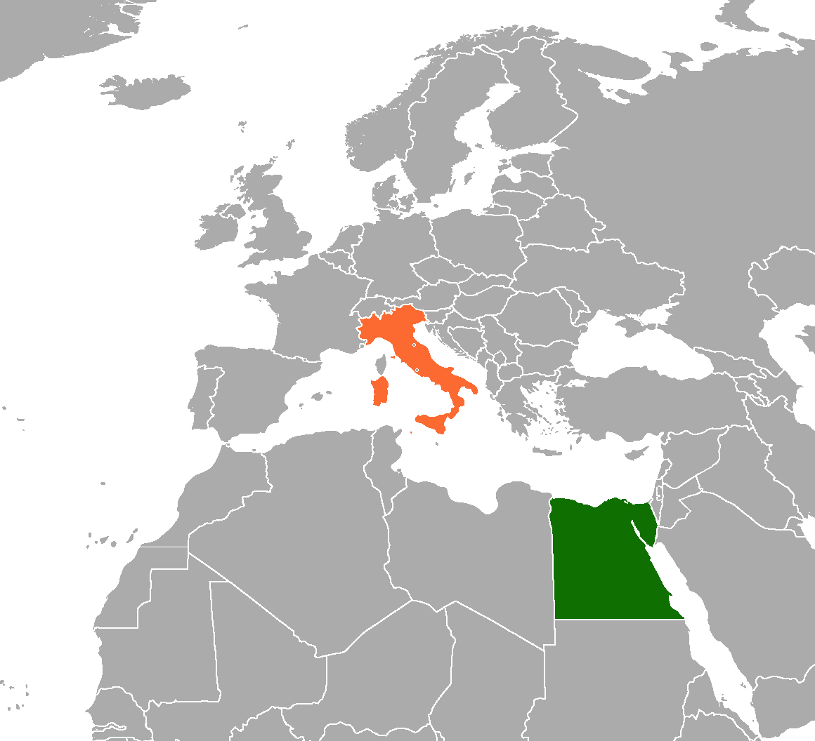 Italy On Map Of World.Egypt Italy Relations Wikipedia