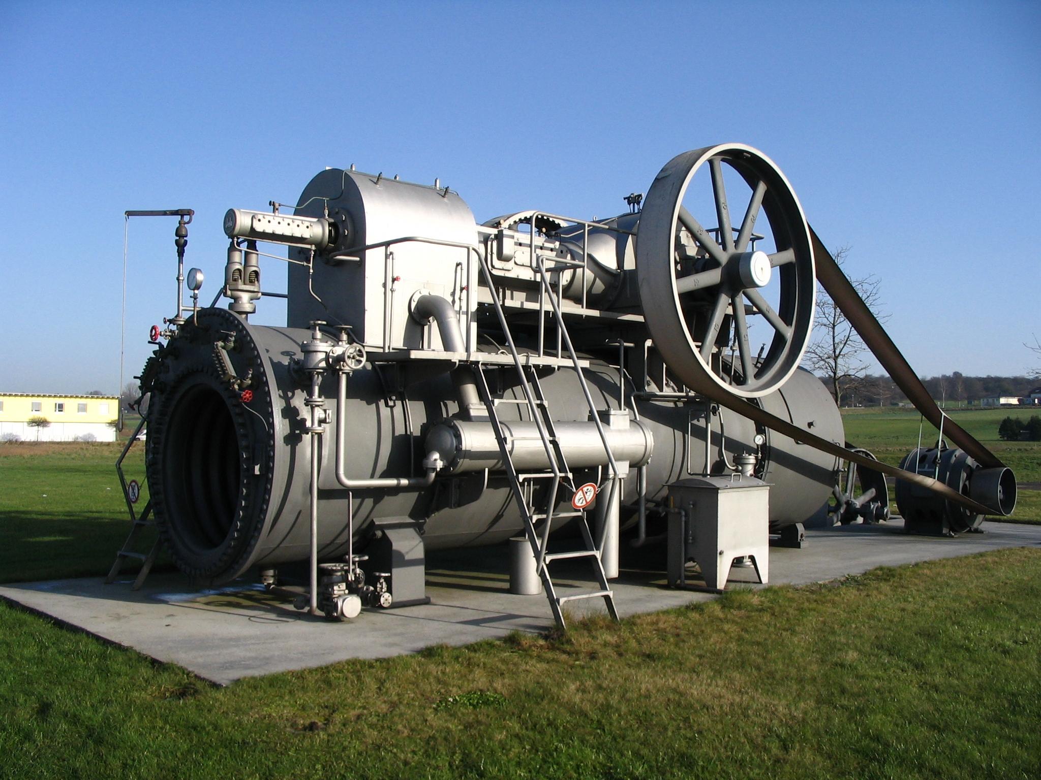 Dampfmaschine in Ertingen - Quelle: WikiCommons, genauere Angaben unten