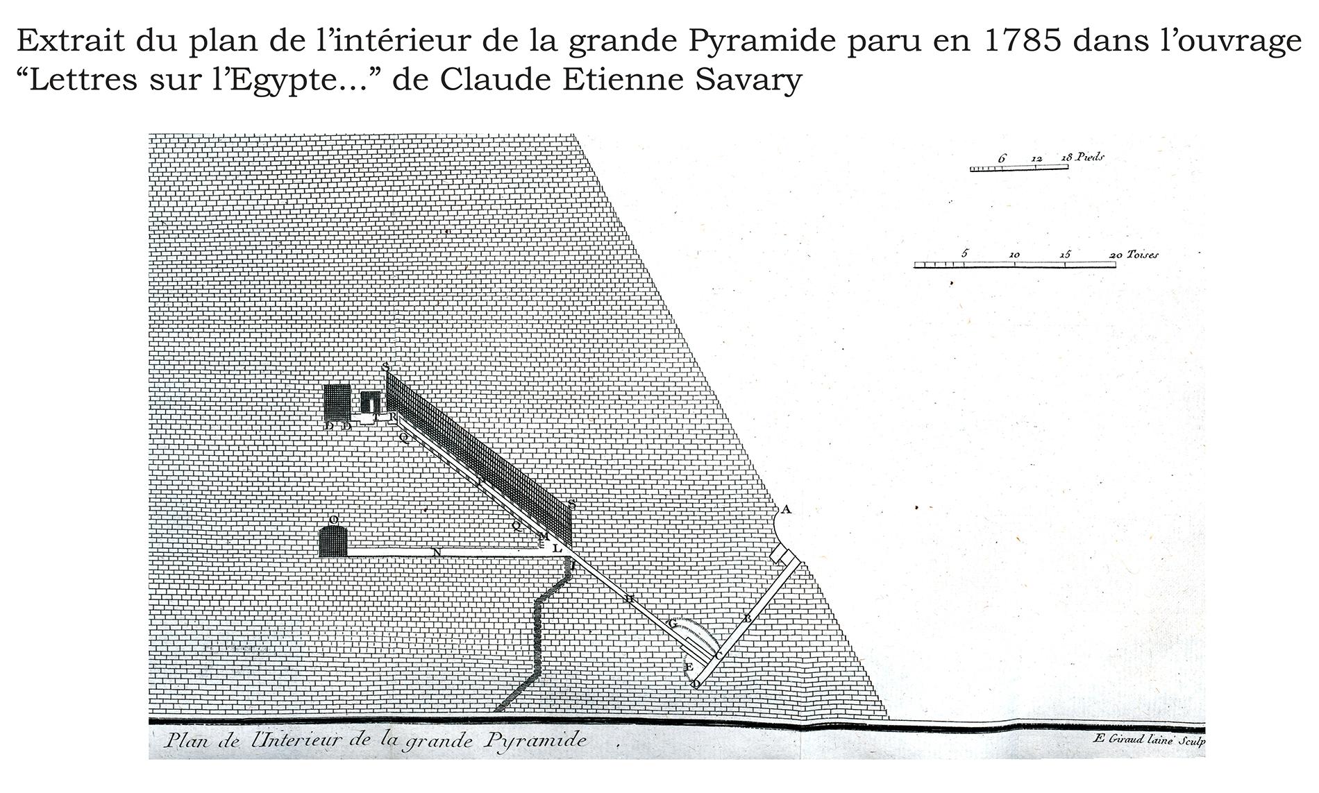 fileextrait du plan intrieur de la grande pyramide 1785jpg