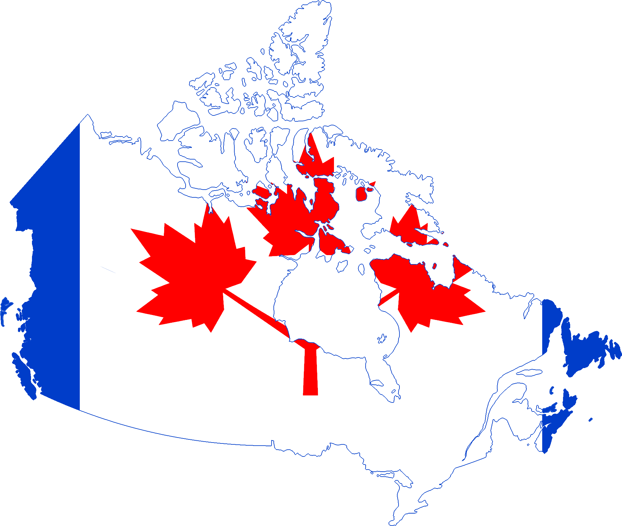 Canada Flag Map Wikimedia Commons - Canada map with flag