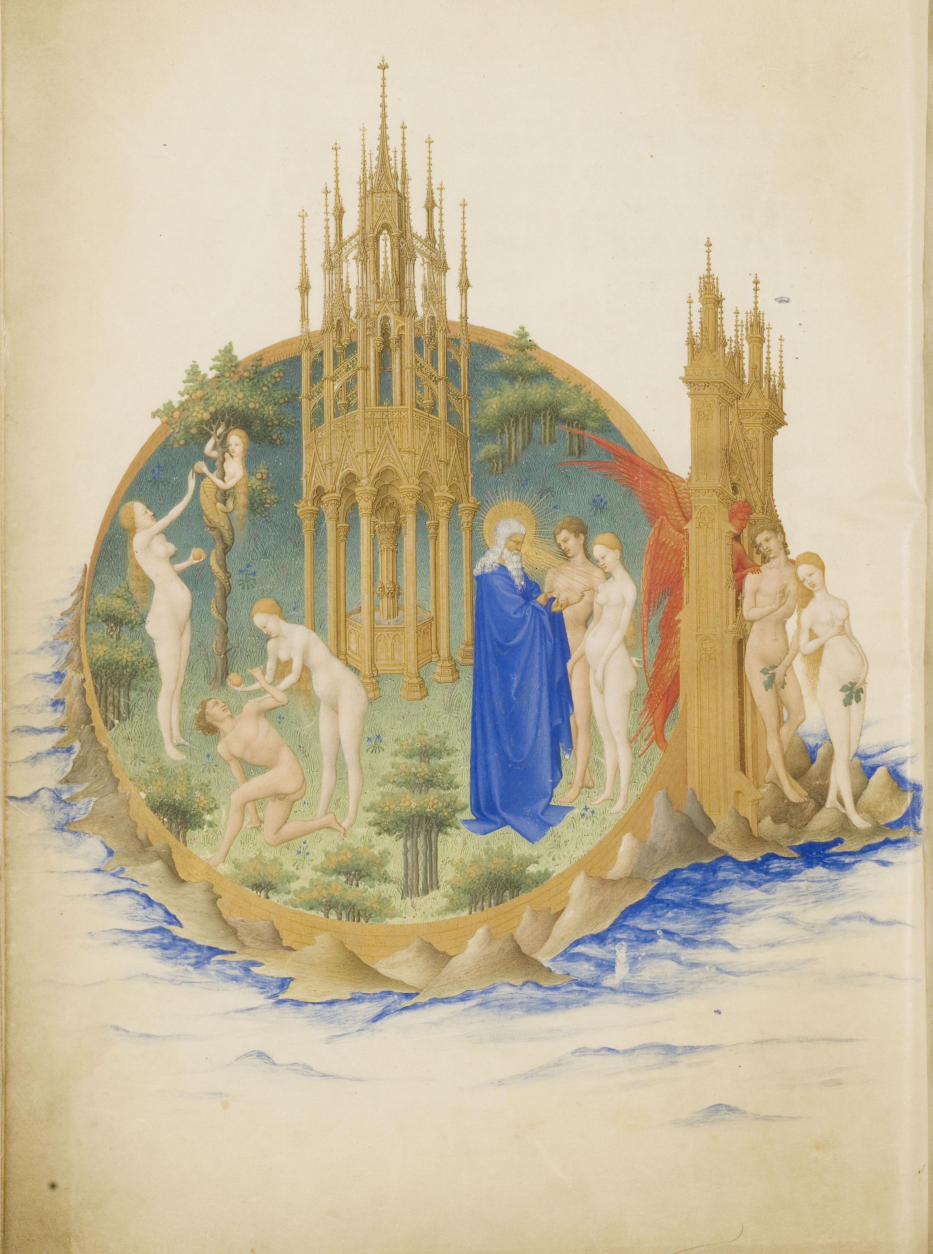 File:Folio 25v   The Garden Of Eden
