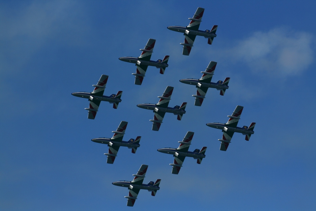 Italiano: Frecce Tricolori all'Air Show di Fal...