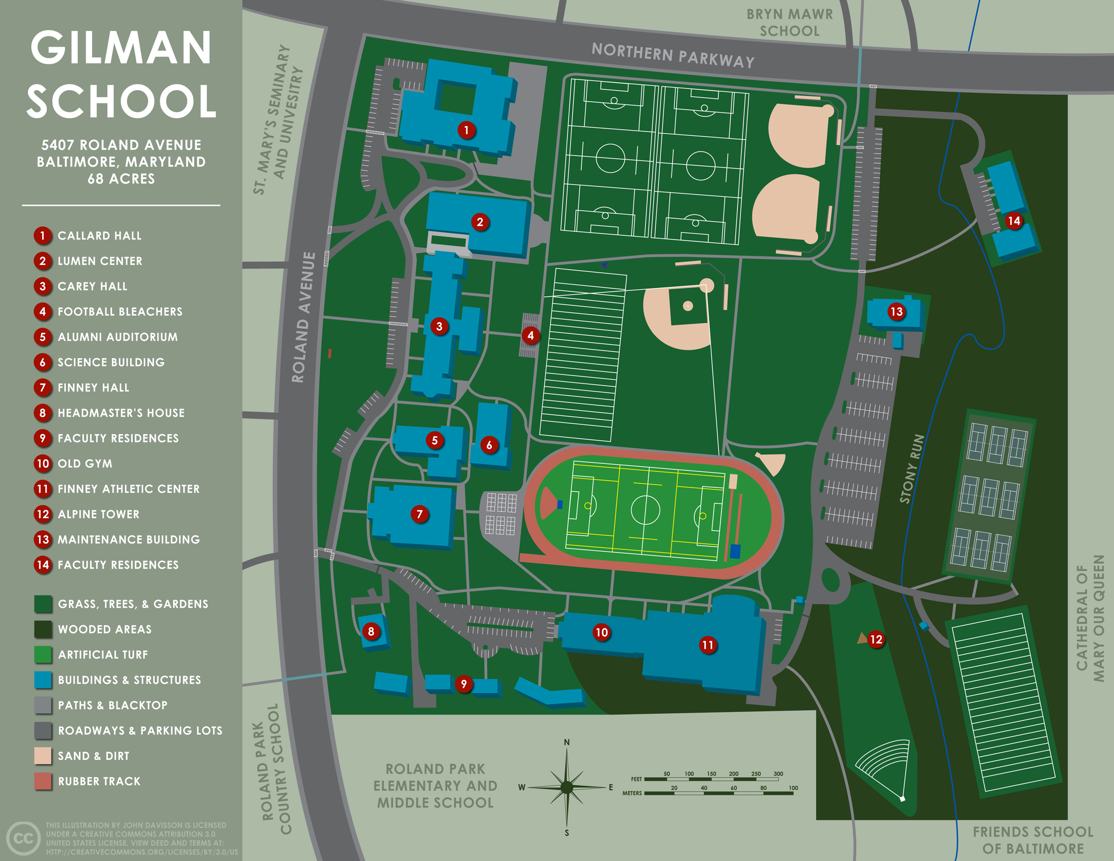 School Campus Map.File Gilman School Campus Map Med Jpg Wikimedia Commons