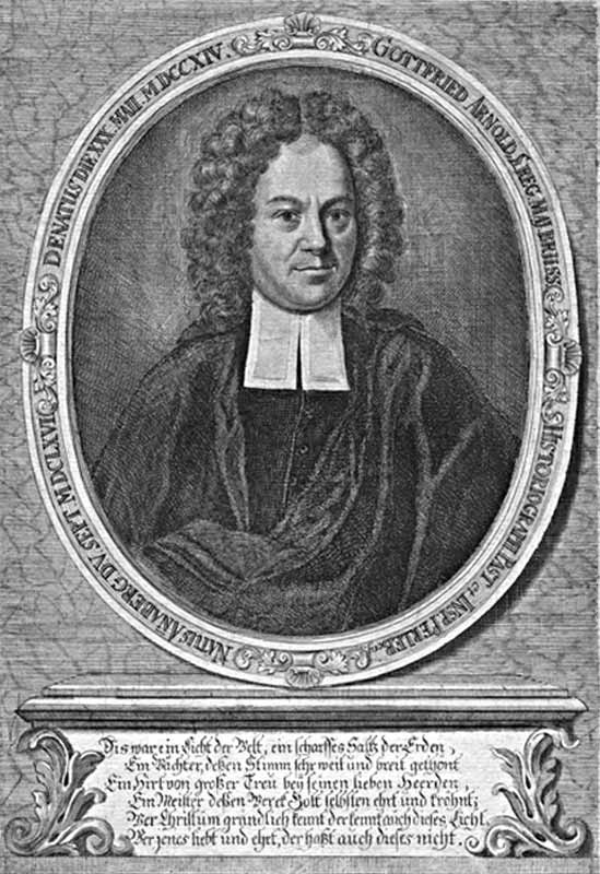 Engraved portrait of Gottfried Arnold