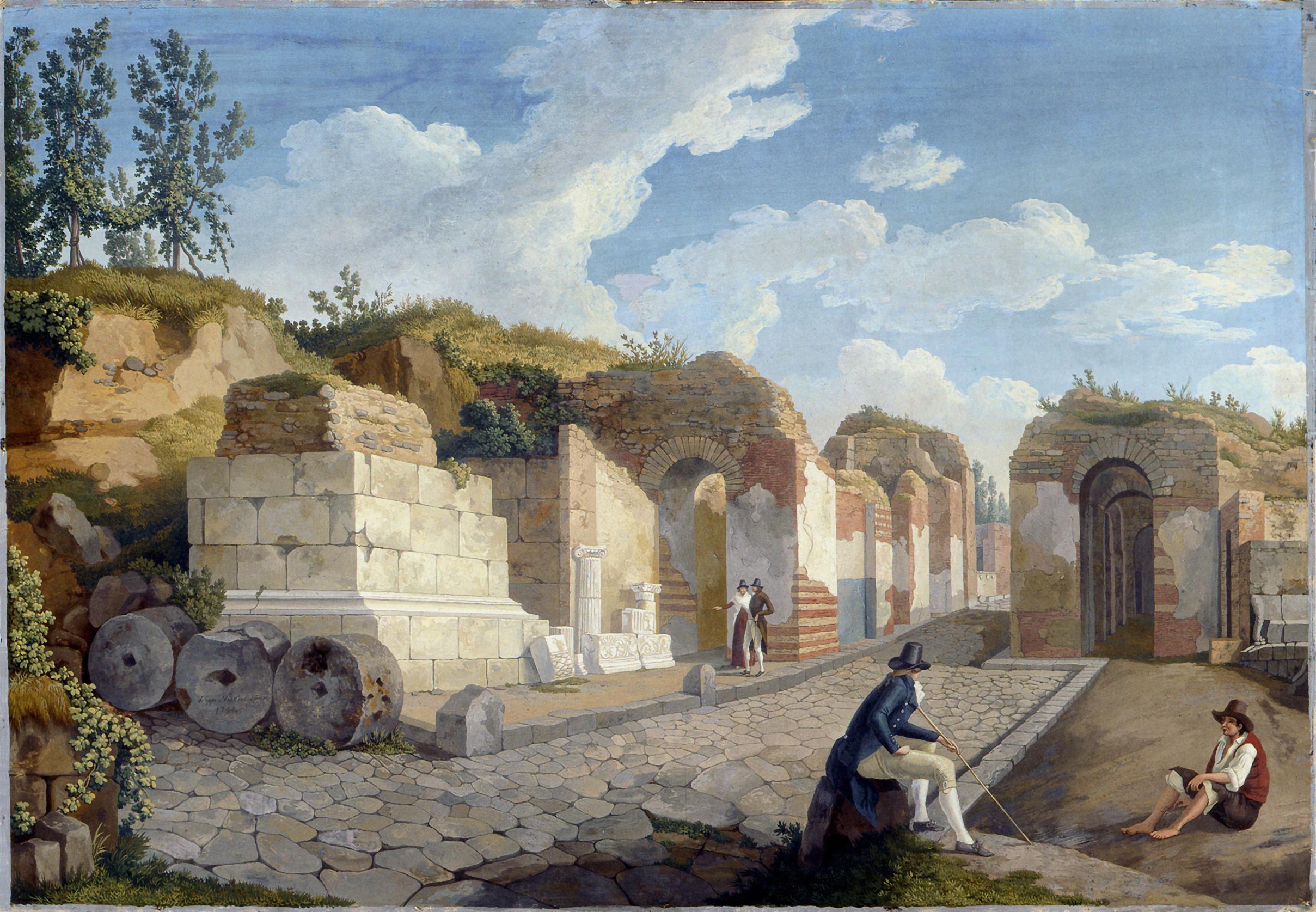 File:Hackert, Das Herkulaner Tor in Pompeji, 1794.jpg ...