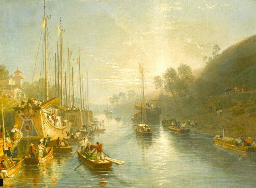 Resourcesforhistoryteachers the great wall and the grand canal of sunrise on the grand canal william havel 1816 publicscrutiny Images