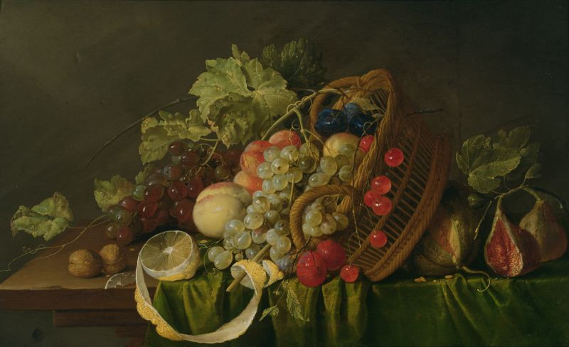 Heem Still Life with a Basket of Fruit