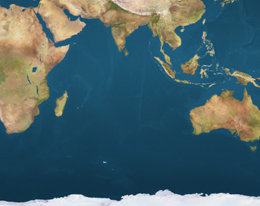 Location map Indian Ocean